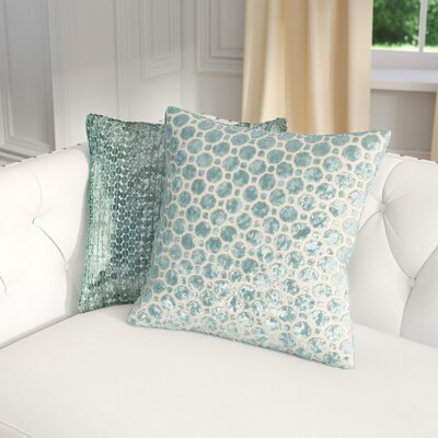 Carlie Velvet Throw Pillow Color: Turquoise, Size: 20 H x 20 W