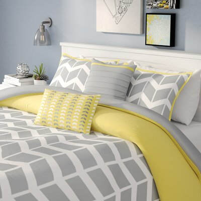 Willard Duvet Cover Set Size: Full / Queen, Color: Gray