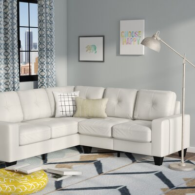 Tiff Sectional Upholstery: Off-White