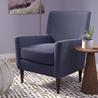 Donham Solid Armchair Upholstery: Navy