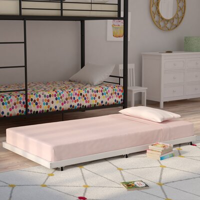 Malia Twin Trundle Bed Finish: Silver