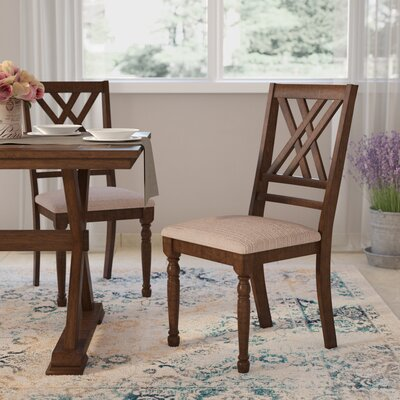 Lia Side Chair (Set of 2) Finish: Medium Brown