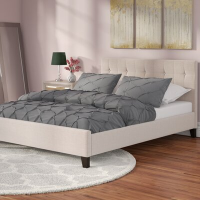 Brookby Place Upholstered Platform Bed Upholstery: Light Beige, Size: Queen