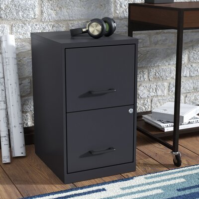 Worton 2 Drawer Vertical Filing Cabinet Finish: Black