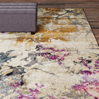 Allegra Ivory Area Rug Rug Size: Rectangle 710 x 107
