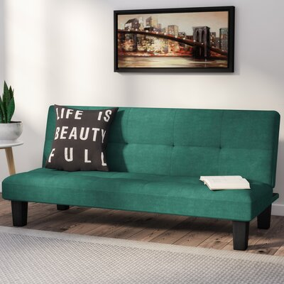 Chanler Convertible Sofa Finish: Forest Green