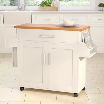 Terrell Kitchen Island Base Finish: White