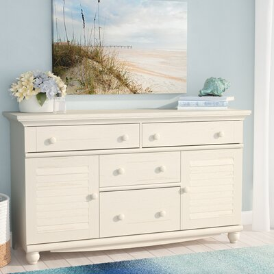 Pinellas 4 Drawer Combo Dresser Color: Distressed Antiqued White