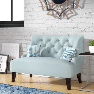 Scalia Settee Upholstery: Light Blue