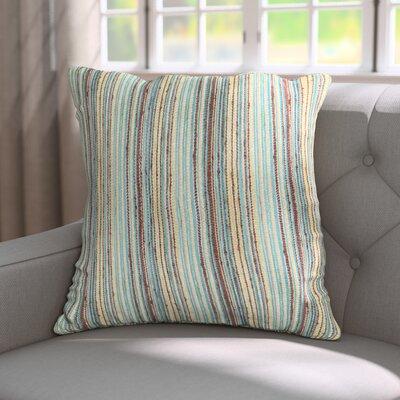 Bourdeau Throw Pillow Color: Aqua Cocoa, Size: 18x18