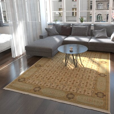 Laurelwood Cream Area Rug Rug Size: Rectangle 6 x 9