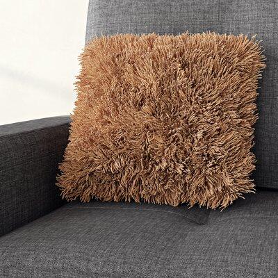 Shag Throw Pillow Color: Sand Stone