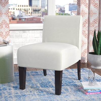 Arrandale Solid Slipper Chair Upholstery: Ivory