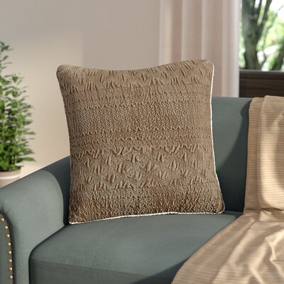 Edmond Textured Plush Throw Pillow Color: Taupe