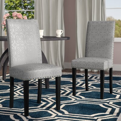 Segal Side Chair Color: Silver Pattern