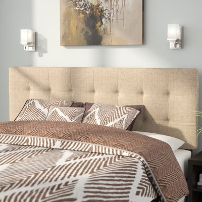 Francis Upholstered Panel Headboard Size: Twin, Upholstery: Navy