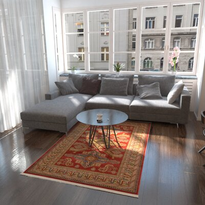 Valley Red Area Rug Rug Size: Rectangle 5 x 8