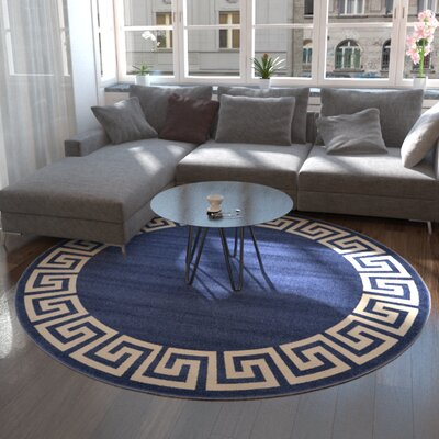 Cendrillon Blue Area Rug Rug Size: Rectangle 9 x 12