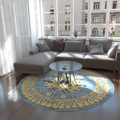 Valley Light Blue Area Rug Rug Size: 4 x 6