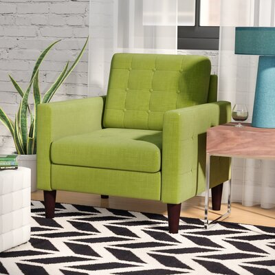 Amore Tufted Buttons Armchair Upholstery: Pear Green