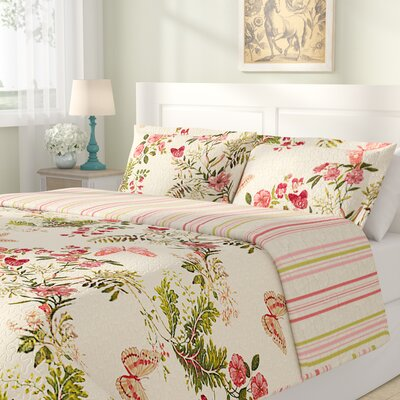 Annaelle Cotton Reversible Quilt Set Size: Full / Queen