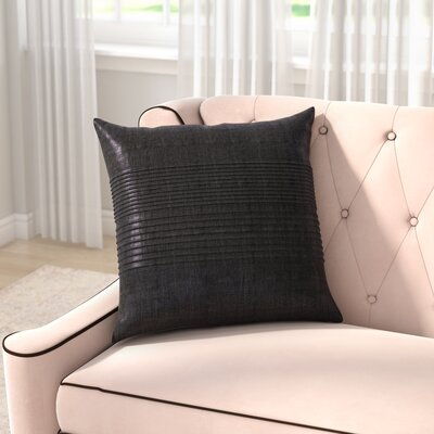 Arber Pleated Throw Pillow Cover Size: 18 H x 18 W x 1 D, Color: Black