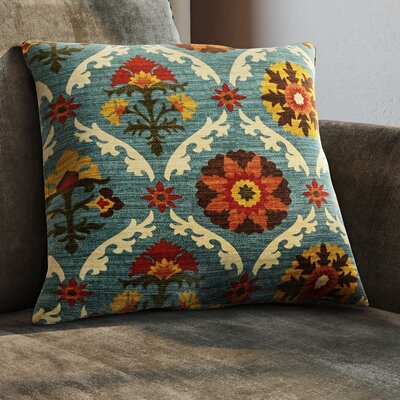 Coggeshall Cotton Throw Pillow Size: 18 x 18