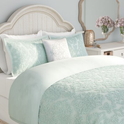 Cherbourg 4 Piece Comforter Set Size: Full/Queen, Color: Blue
