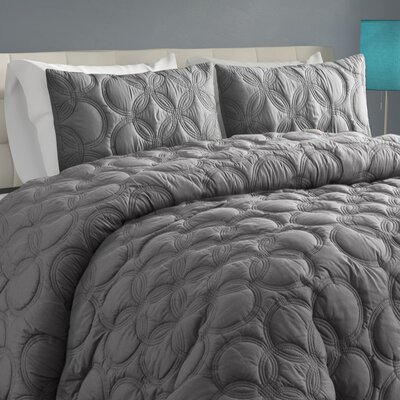 Clyde Duvet Set Size: Queen, Color: Gray