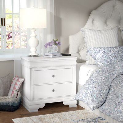 Hewitt 2 Drawer Nightstand Color: Soft White