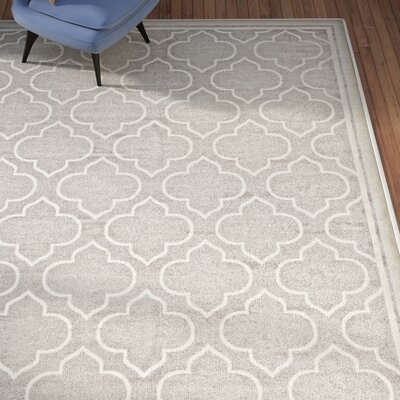 Maritza Light Gray/Ivory Outdoor Area Rug Rug Size: 10 x 14