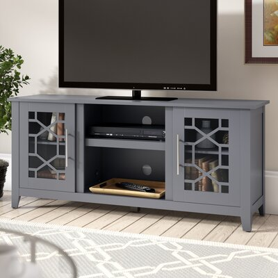 Jennings 54 TV Stand with Optional Fireplace Color: Cool Gray, Fireplace Included: No