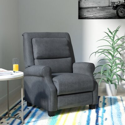 Tiffin Manual Recliner Upholstery: Dark Grey