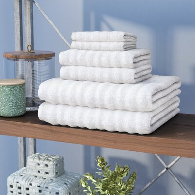 Knopf 6 Piece Towel Set Color: White