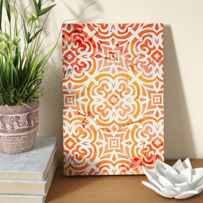 Peachy Afternoon Graphic Art on Wrapped Canvas Size: 10