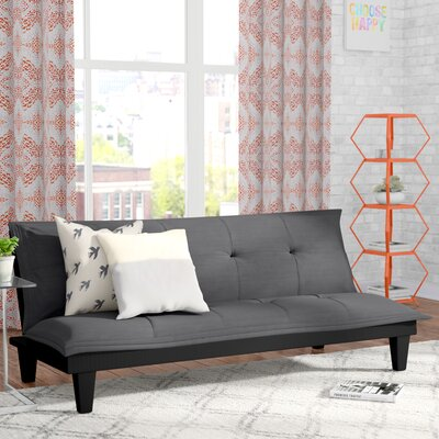 Bane Convertible Sofa Upholstery: Charcoal