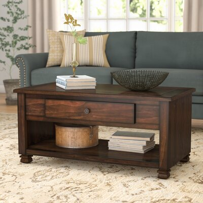 Gutierres Coffee Table with Storage Color: Espresso