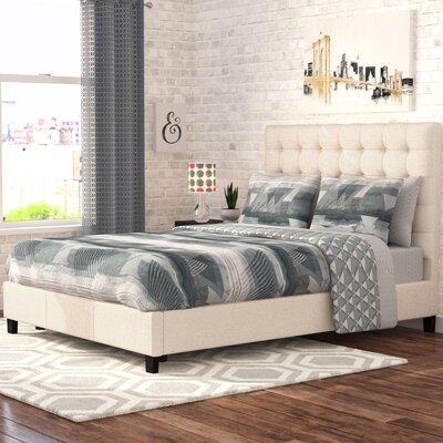 Janssen Upholstered Platform Bed Headboard Color: Beige, Size: Queen