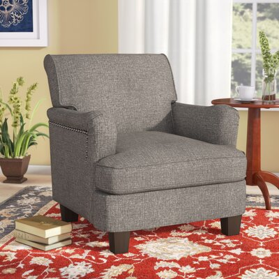 Robertsville Rolled Top Armchair Upholstery: Gray