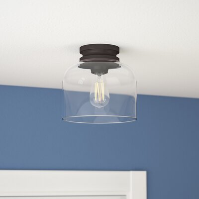 Nolan 1-Light Semi Flush Mount Finish: Oil Rubbed Bronze