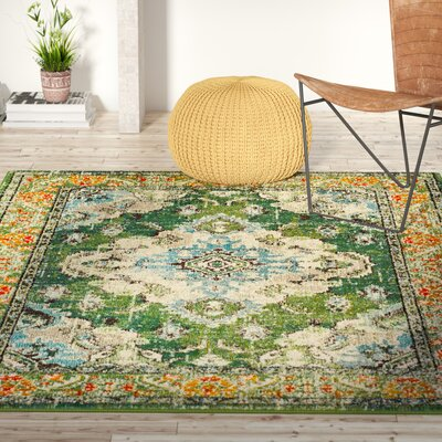 Newburyport Green Area Rug Rug Size: Rectangle 51 x 77