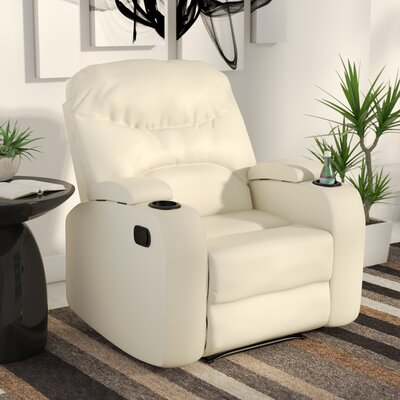Ingram Manual Wall Hugger Recliner Upholstery: Cream