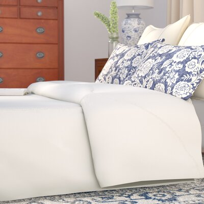 Ertel Cotton Sateen Duvet Cover Size: Queen, Color: Cream