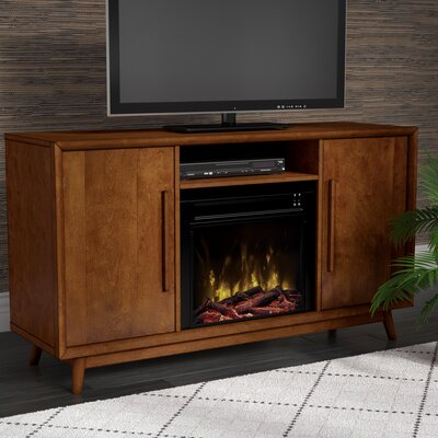 Silvia 54 TV Stand with Optional Fireplace Color: Mahogany Cherry, Fireplace Included: Yes