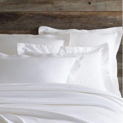 Petite Trellis Matelasse Sham Color: White, Size: Euro