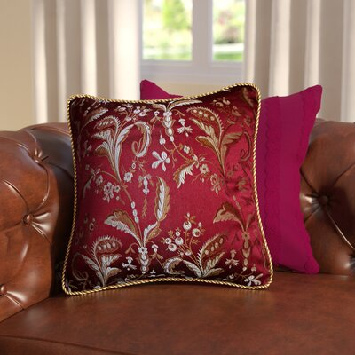 Rockport Throw Pillow Color: Burgundy