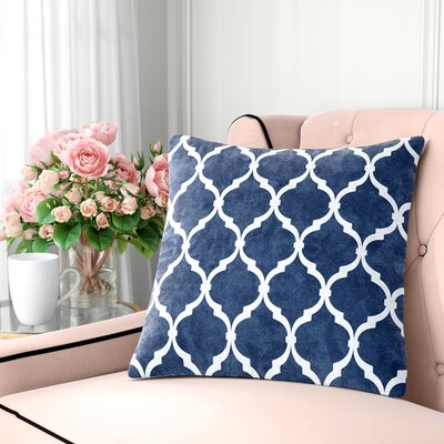Flannagan Square Throw Pillow Color: Indigo