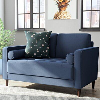 Garren Loveseat Upholstery: Navy Blue