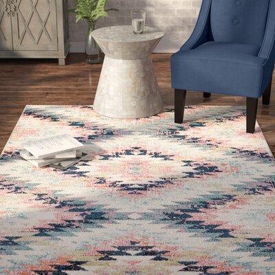 Nichole Dark Blue/Pink Area Rug Rug Size: Rectangle 53 x 73