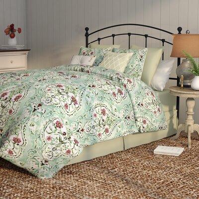 Junia 8 Piece Comforter Set Color: Sage, Size: Queen